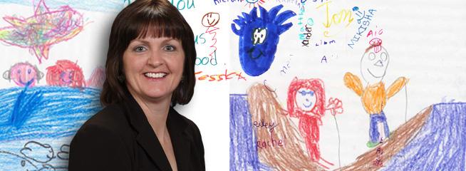 Kathy and Children's Art